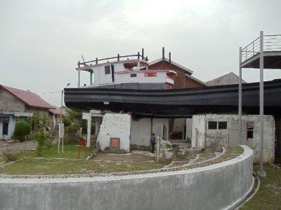 Boat in house
