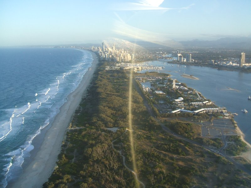 View from Helicopter ride - Seaworld Gold Coast