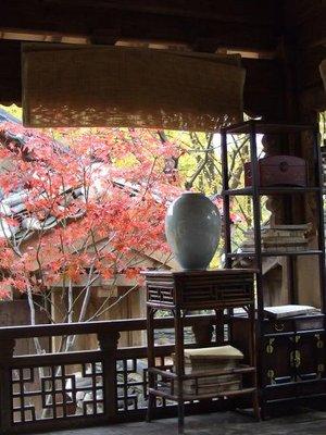 Korean porch with vase