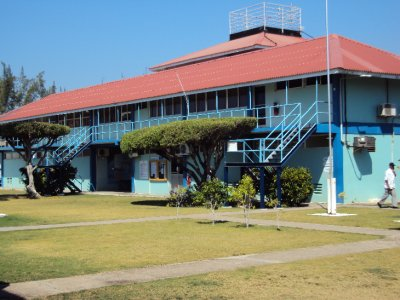 The grounds of the Caribbean Maritime Institute.