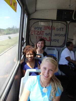 Traveling by bus to Port Royal
