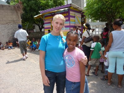 Me with a local Jamaican girl.