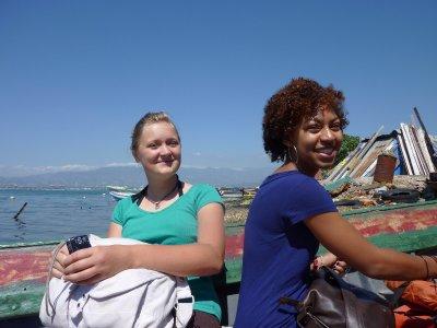 Ida and Ayana enjoying the ride