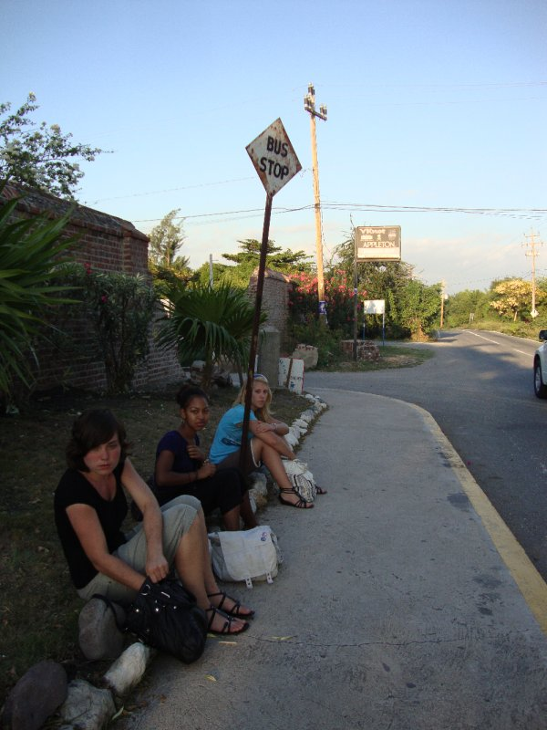 Waiting for the bus back