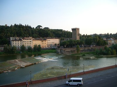 View over the Arno to Piazzale Michelangelo