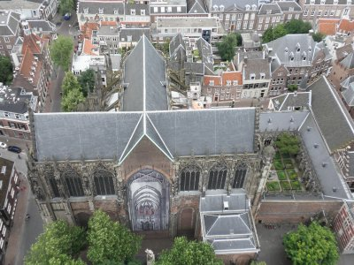 Looking down on the Domkerk