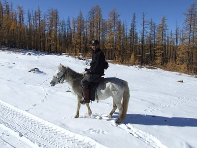 Khovsgol Lake horseback riding from Bonda Lake Ger Camp