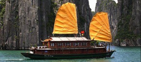 A boat on Halong Bay