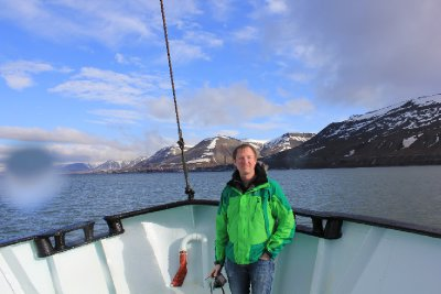 Me, in front of Longyearbyen