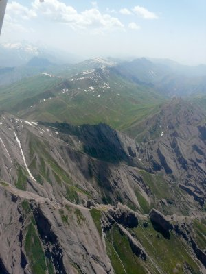 Aerial photo, Afghan mountains
