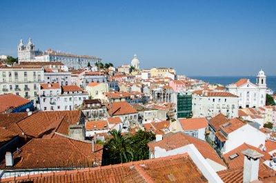 View of Alfama from Miradouro de Santa Luzia