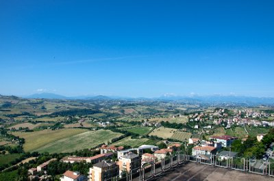 View of the Central Apennines from Fermo