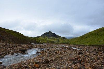 Riverbed along Laugavegur trail