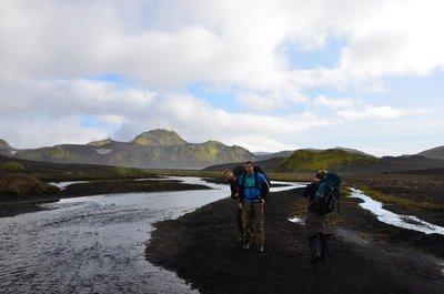 Hikers, laugavegur trail