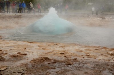 Strokkur fountain geyser