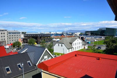 Downtown Reykjavik, view from apartment