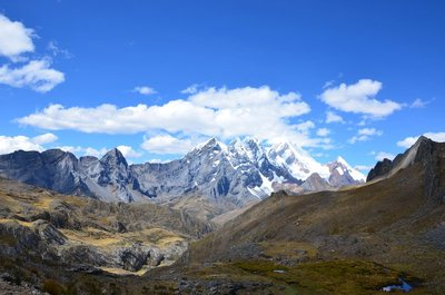 Huayhuash range as seen from the north