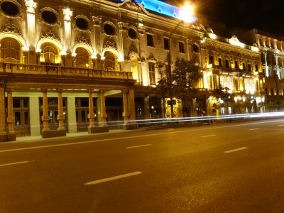 Rustaveli theatre at night