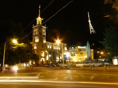 Rustaveli square at night
