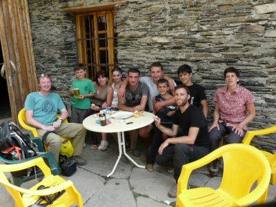 Lunch at a café in Ushguli