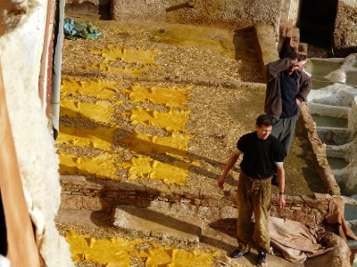 Men working in the Tanneries