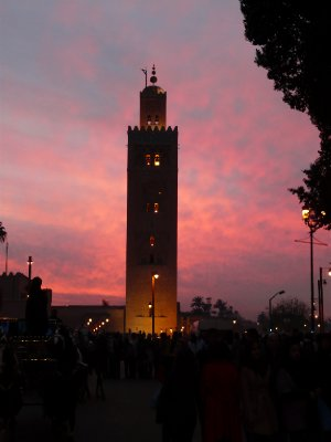The Koutoubia Minaret at dusk
