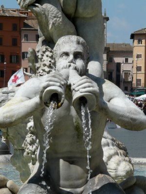 Triton at Fontana del Moro in Piazza Navona