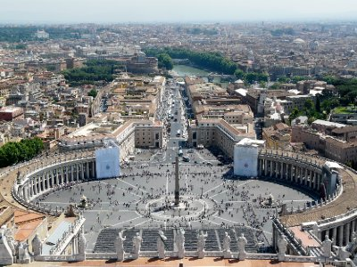 Saint Peter's Square from above