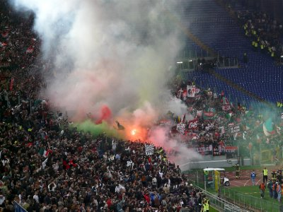 Milan supporters celebrating the 2011 Scudetto