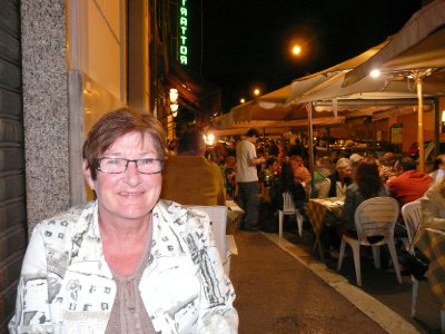 Mom at Trattoria Luzzi
