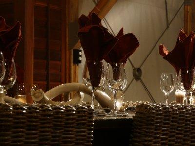 Dolomite Camp dinner table detail