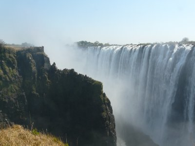 Vic Falls, note the people in the upper left corner for perspective!