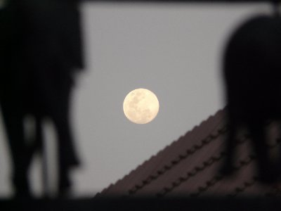 Full moon, Swakopmund
