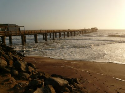 Sunset over Swakopmund pier