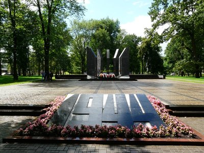 Soviet memorial in Dubrovin Park, Daugavpils