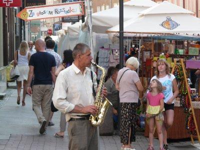 Gdansk street performer
