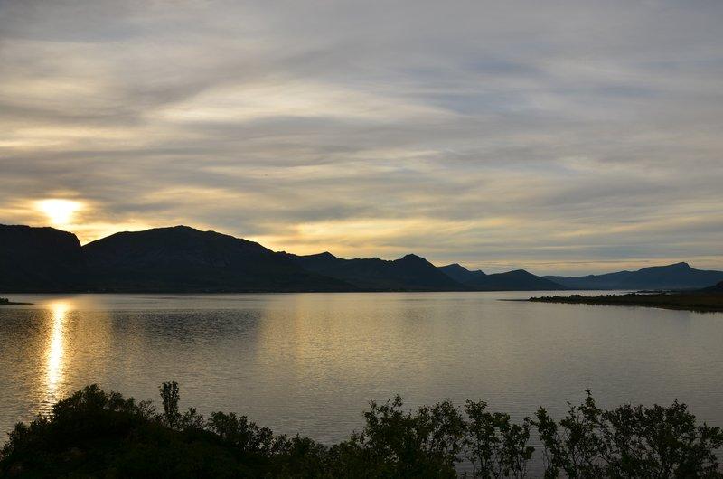 Buksnesfjord in the evening