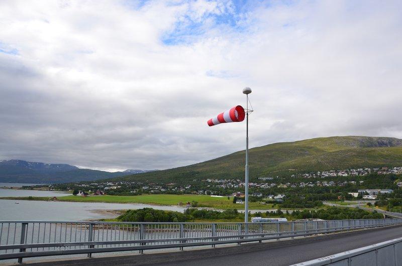 Windy on Sandnessund Bridge