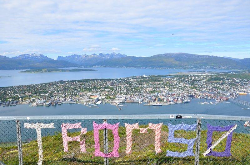 Southern Tromsö, view towards west