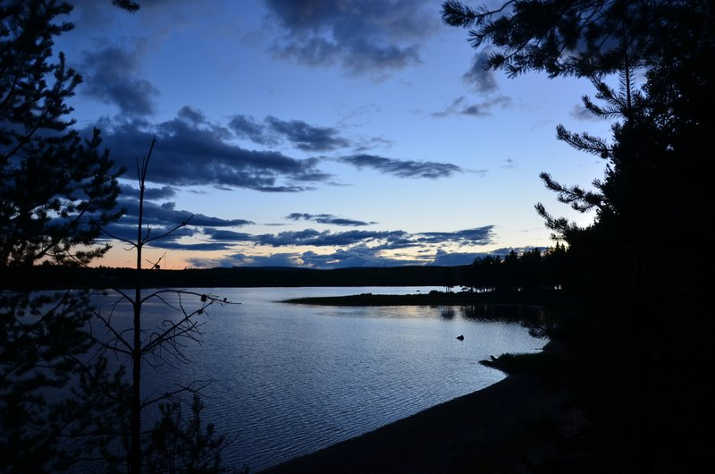 Vindel river, Blattnicksele at dusk