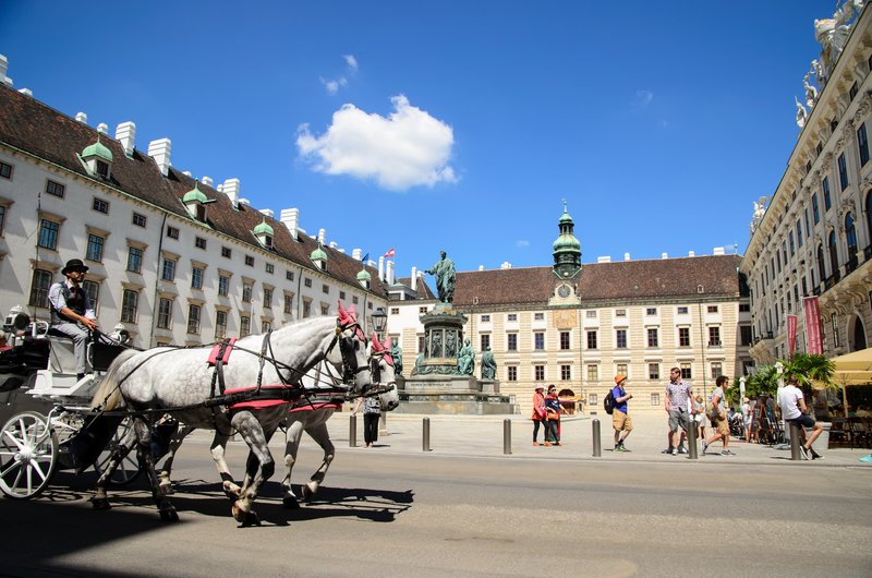 Internal Castle Square at Hofburg
