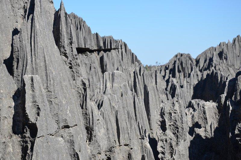 Tsingy landscape close up