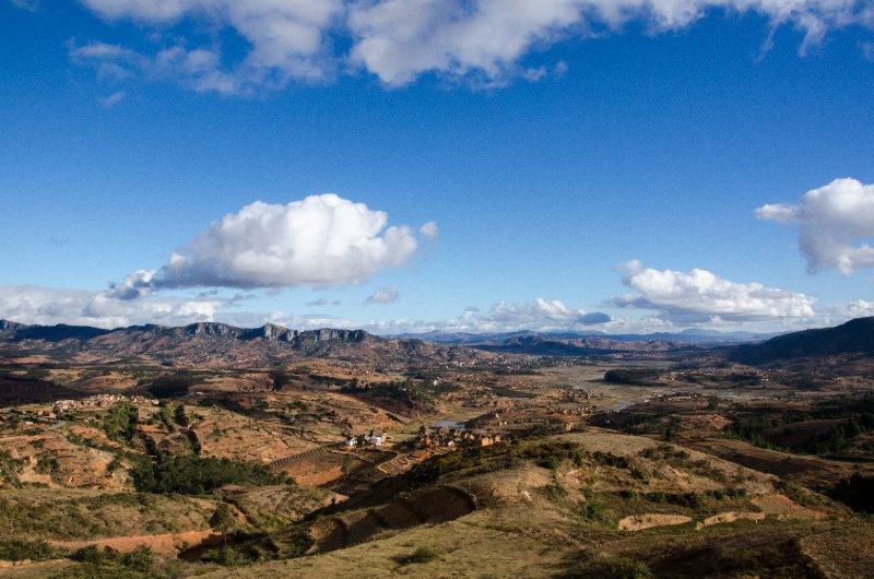 Central Madagascar landscape