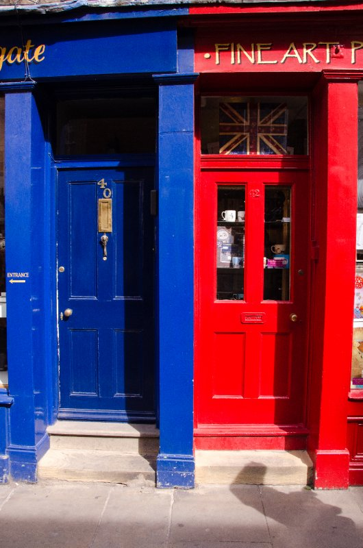 Colorful doors at Stonegate