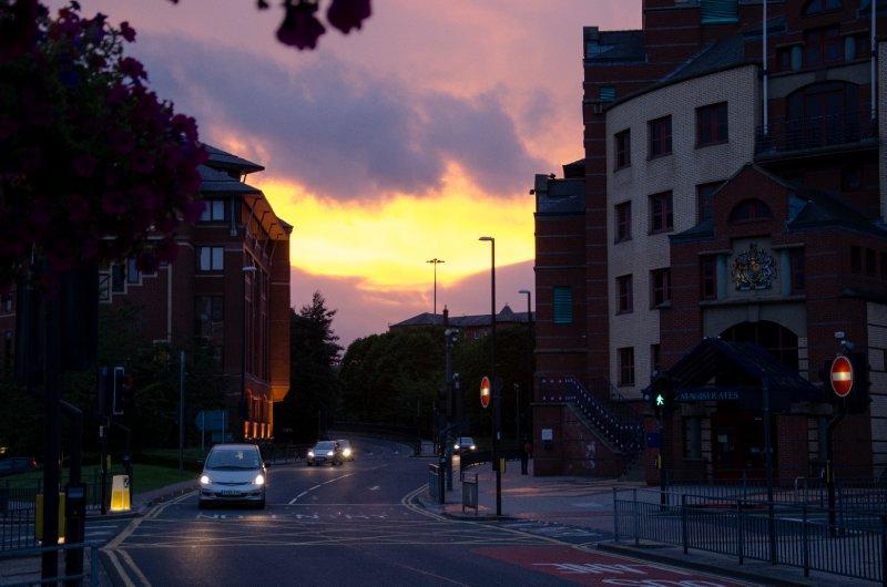 Westgate, Leeds at sunset