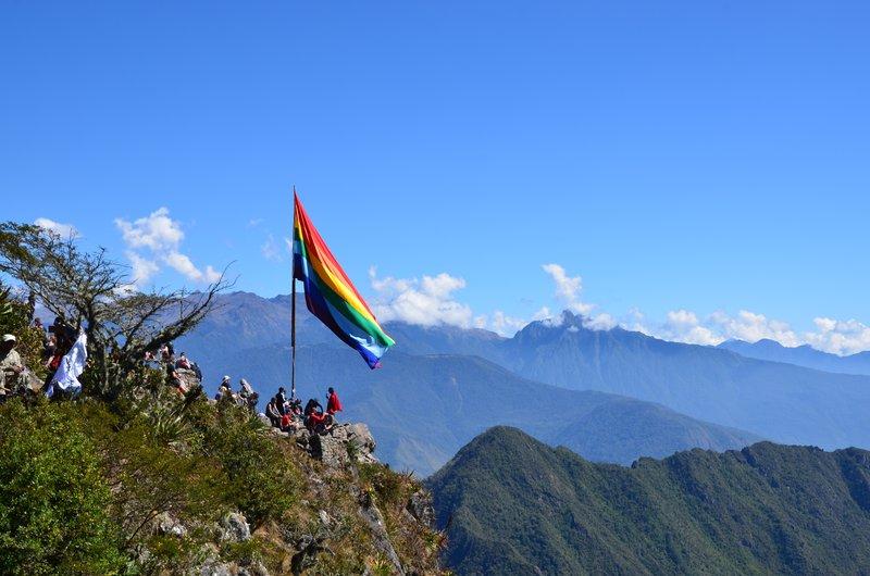 Top of Machu Picchu mountain