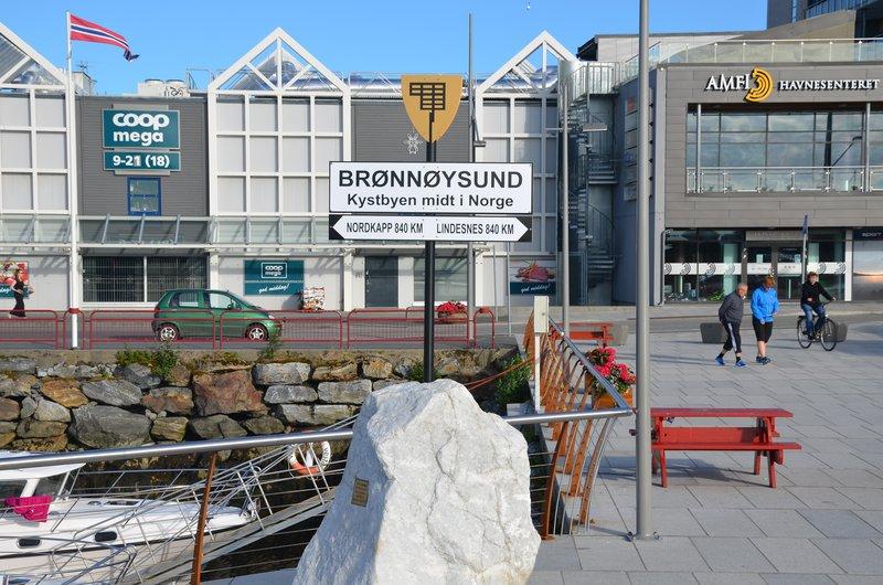 Brønnøysund in the middle of Norway