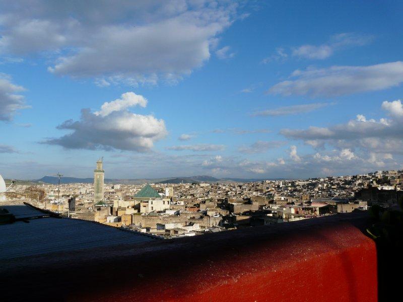 Fés medina from a rooftop restaurant