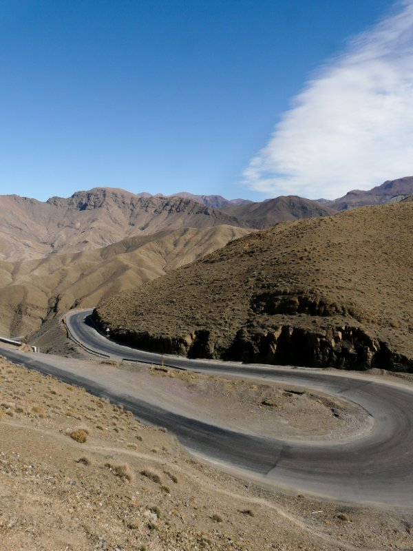Moroccan road N9 traversing the Atlas mountains