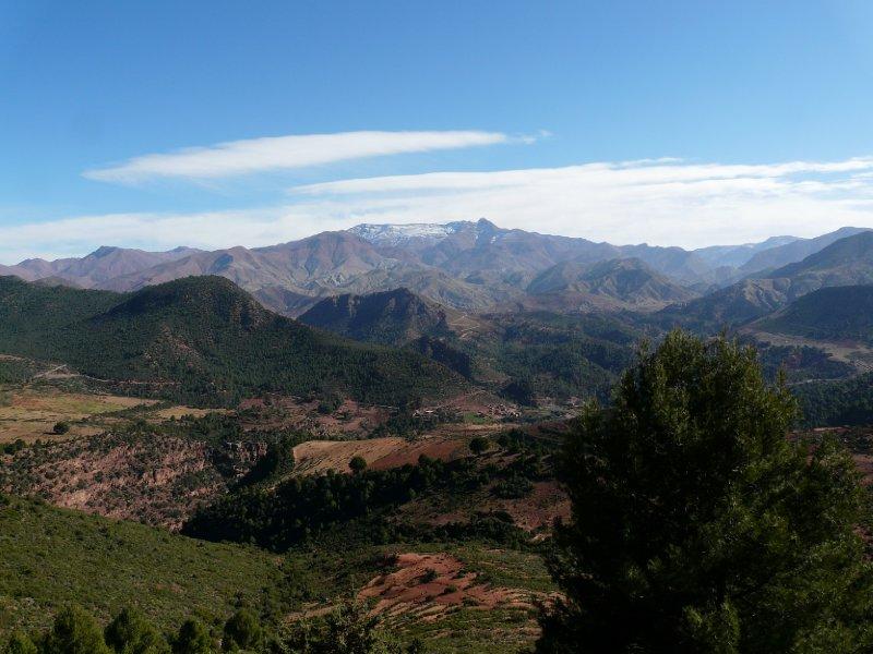 Atlas mountain landscape